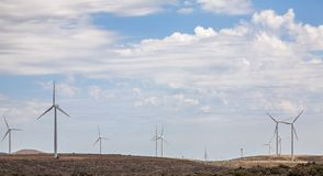 Wind Turbines. Producing alternative energy Royalty Free Stock Photos