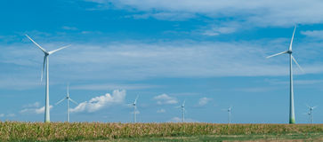 Wind turbines producing clean energy Royalty Free Stock Photo