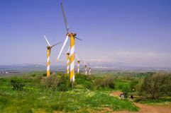 Wind turbines producing energy Royalty Free Stock Photo