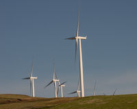 Wind turbines producing green energy Royalty Free Stock Photos