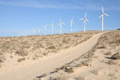 Wind turbines for renewable energy Stock Images