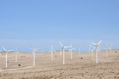 Wind turbines for renewable energy Stock Photography