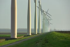 Wind turbines for renewable energy Royalty Free Stock Photo