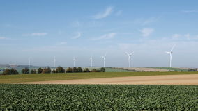 Wind turbines renewable energy generation stock video