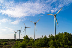 Wind Turbines for Renewable Energy. Group of winmills, wind turbines for renewable energy Stock Photo