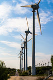 Wind Turbines for Renewable Energy stock image