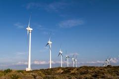 Wind Turbines for Renewable Energy stock photos
