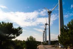 Wind Turbines for Renewable Energy stock photography