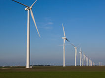 Wind Turbines in a Row Stock Image