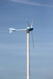 Wind turbines in running. Royalty Free Stock Images