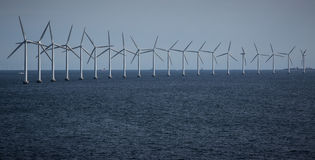 Wind Turbines at sea Royalty Free Stock Photography