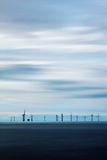 Wind turbines at sea Stock Image