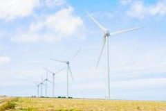 Wind turbines in Seine-Maritime Stock Image