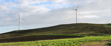 Wind turbines in Sicily Royalty Free Stock Photos