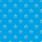 Wind turbines pattern seamless blue Royalty Free Stock Images