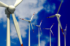 Wind Turbines and Sky Royalty Free Stock Images