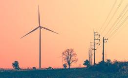 Wind turbines on sky Stock Photography