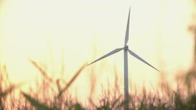 Wind turbines at sunset, green energy. Wind turbines at sunset, green energy stock video footage