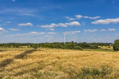 Wind turbines in Suwalki. Poland Stock Image
