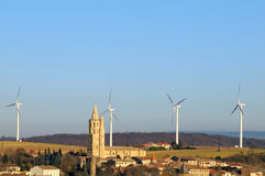 Wind turbines three Royalty Free Stock Photos