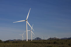 Wind turbines to generate power for South Africa Royalty Free Stock Image