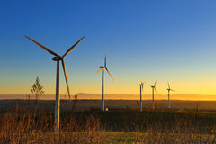 Wind turbines-two Stock Image