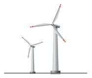 wind turbines. Two  wind turbines Royalty Free Stock Image