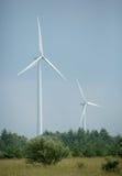 2 Wind Turbines Stock Photography