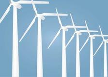 Wind turbines vector Royalty Free Stock Photos