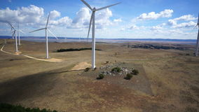 Wind turbines stock video