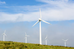 Wind turbines on a wind farm in Galicia, Spain Stock Image