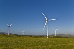 Wind turbines on a wind farm Stock Photo