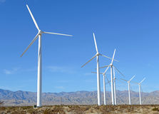 Wind Turbines in Wind Farm, Southwest USA Stock Images
