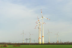 Wind turbines Wind farm Wind park Royalty Free Stock Images