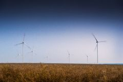 Wind turbines. Stock Photos