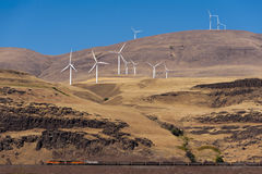 Wind Turbines. The Windy Point/Windy Flats project is one of the largest wind farms in Goldendale, Washington. Construction of 400 of the 500 MW was completed by Stock Images