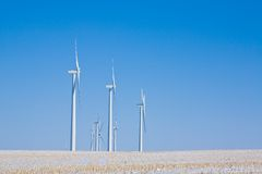 Wind Turbines In Winter Royalty Free Stock Photography