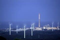 Wind und Energie Stockbild