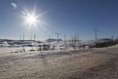 Wind und Sonnenenergie Stockfotografie