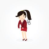 Wind-Up Business woman Concept Stock Photos