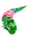 Wind up crocodile toys on white background Stock Image