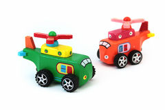 Wind up helicopter. Colorful helicopter wood wind up Toy for Children's day Stock Photo