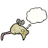 Wind up mouse cartoon. Retro cartoon with texture. Isolated on White Royalty Free Stock Photos