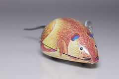 Wind-up mouse. Old wind-up toy mouse Royalty Free Stock Images