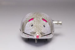 Wind-up mouse. Old wind-up toy mouse Stock Photography