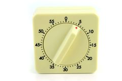 Wind Up Timer At 5 Minutes Royalty Free Stock Images