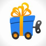 Wind-up toy logo (icon) Royalty Free Stock Photos