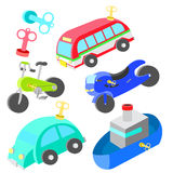 Wind up vehicle vector Stock Photo
