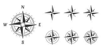 Wind van het kompas nam toe vector illustratie