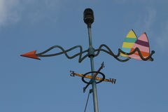 Wind vane. Sails in vane stock image